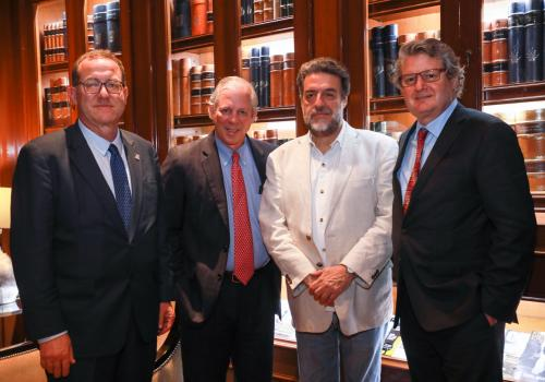 President Robbins with Undersecretary for Higher Education, Dr. Luciano Concheiro and Deans Miller and Jones