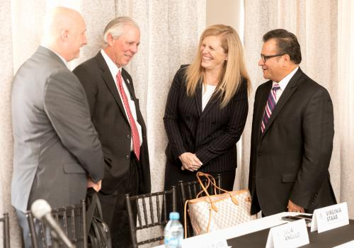 President Robbins with CG Staab and Consul Pineda