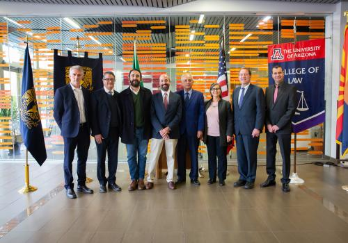 Group photo of inauguration of Mexican Constitutional Law Diploma Program