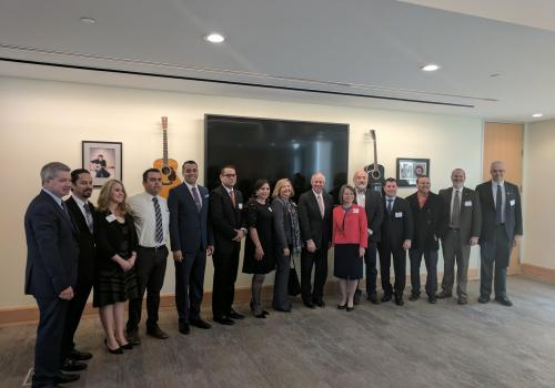 President Robbins meeting with University Presidents from Sonora